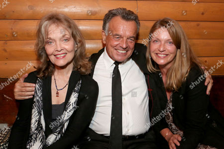 """IMAGE DISTRIBUTED FOR PARAMOUNT - """"The Palmer Family"""" - Left to right, Grace Zabriskie, Ray Wise and Sheryl Lee at the Bigfoot Lodge for the after party celebrating the forthcoming Blu-ray Disc release of Twin Peaks: The Entire Mystery, in Los Angeles"""