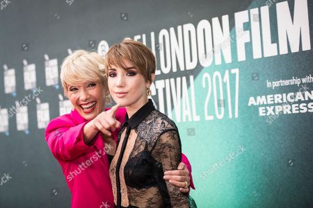 Emma Thompson, Gaia Romilly Wise. Actress Emma Thompson, left, poses with her daughter Gaia Romilly Wise, for photographers upon arrival at the premiere of the film 'The Meyerowitz Stories' during the London Film Festival in London