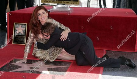 Debra Messing and Roman Walker Zelman