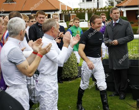 Jimmy Fortune after announcing his retirement at Newmarket.