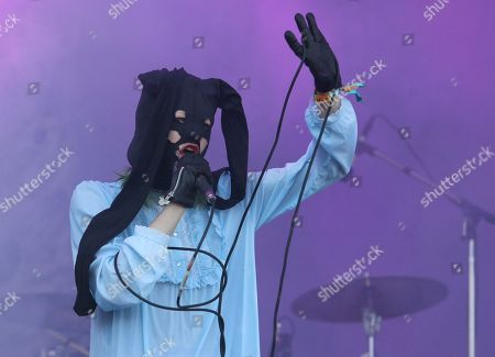 Stock Photo of Crystal Castles' Alice Glass performs on day one of the Austin City Limits Music Festival's first weekend, in Austin, Texas