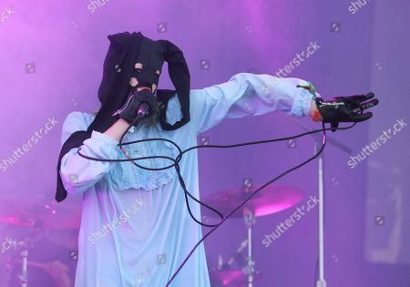 Crystal Castles' Alice Glass performs on day one of the Austin City Limits Music Festival's first weekend, in Austin, Texas