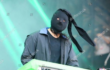 Stock Image of Crystal Castles' Ethan Kath performs on day one of the Austin City Limits Music Festival's first weekend, in Austin, Texas