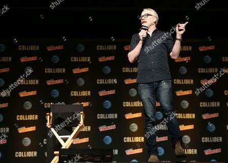 "Adam Savage speaks at a panel called ""An Hour with Adam Savage"" during New York Comic Con, . The event runs through Oct. 8 at the Javits Center, Madison Square Garden, and the Hammerstein Ballroom"