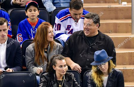 Editorial image of Celebrities at Colorado Avalanche v New York Rangers, NHL ice hockey match, Madison Square Garden, New York, USA - 05 Oct 2017