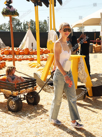 Editorial photo of Jaime King and son James Knight Newman visit Mr. Bones Pumpkin Patch in Culver City, USA - 07 Oct 2017