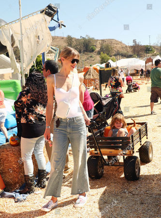 Editorial picture of Jaime King and son James Knight Newman visit Mr. Bones Pumpkin Patch in Culver City, USA - 07 Oct 2017