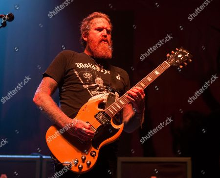Brent Hinds of the band Mastodon performs in concert during the Rock Allegiance Festival at BB&T Pavilion, in Camden, N.J