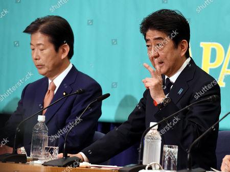 Shinzo Abe and Natsuo Yamaguchi