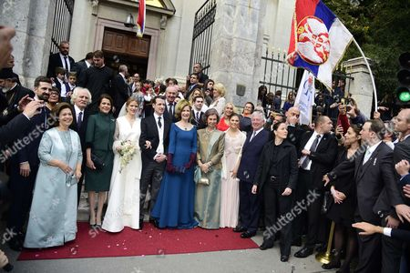 Editorial photo of Wedding of Prince Philip of Serbia and Danica Marinkovic, Belgrade, Serbia - 07 Oct 2017