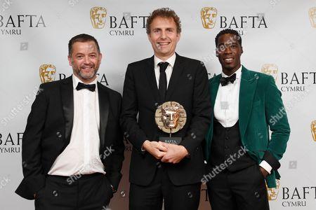 Editorial photo of British Academy Cymru Awards, Press Room, St David's Hall, Cardiff, Wales, UK - 08 Oct 2017