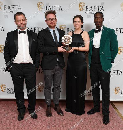 Stock Photo of Geraint Morgan, Christian Malcolm, Miranda Ballesteros and Ewan Jones Morris - Short Film - This Far Up