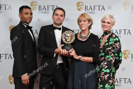 Stock Photo of Lloyd Everitt, Hannah Daniel, Karen Voisey and Andy Maguire - News and Current Affairs - Michael Sheen: The Fight For My Steel Town