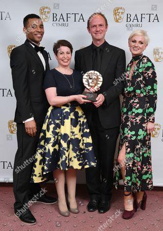 Stock Image of Lloyd Everitt, Hannah Daniel, Anwen Rees and Matthew Harrison - Live Broadcast - BBC Young Musician 2016 Grand Final