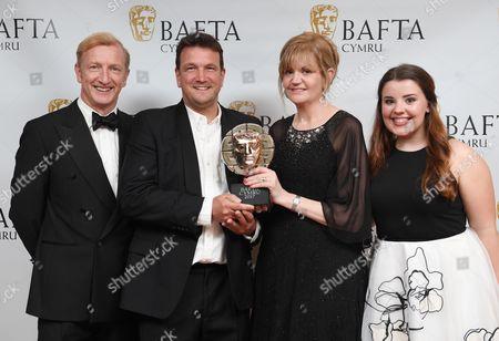 Steffan Rhodri, Griff Davies, Bethan Anwyl-Ross and Leona Vaughan