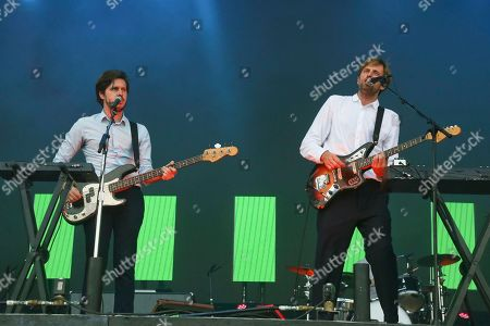 Ben Browning, Dan Whitford. Cut Copy's Ben Browning, left, and Dan Whitford perform on day two of the Austin City Limits Music Festival's first weekend, in Austin, Texas