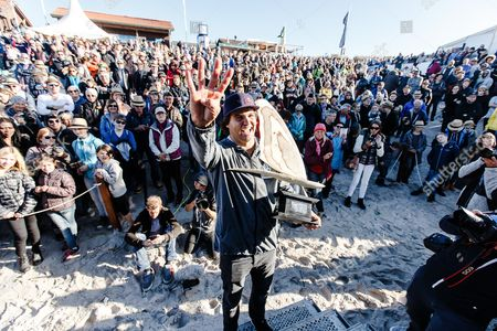 Editorial photo of Windsurf World Cup 2017 at the North Sea island Sylt, Westerland, Germany - 08 Oct 2017