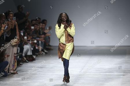 Editorial picture of Nadir Tati - Runway - Lisbon Fashion Week, Portugal - 08 Oct 2017