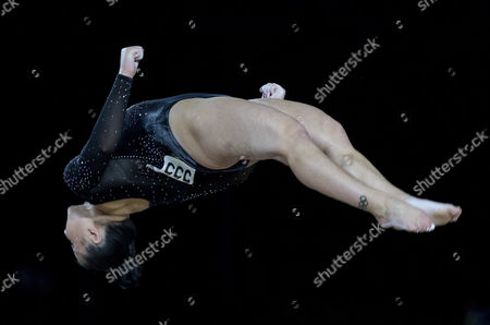 Claudia Fragapane of Great Britain competes in the Floor Exercise discipline of the Women's Individual Finals at the FIG Artistic Gymnastics World Championships in Montreal, Canada 08 October 2017.