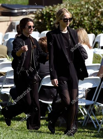 Actress Jennifer Lawrence arrives at a life celebration and statue unveiling for the late actor Anton Yelchin at Hollywood Forever Cemetery, in Los Angeles. Yelchin died in June 2016 at the age of 27