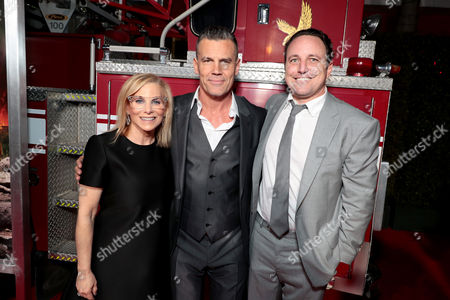 Dawn Ostroff, Producer and President, CondŽ Nast Entertainment, Josh Brolin and Jeremy Steckler, Producer and EVP Feature Film, CondŽ Nast Entertainment
