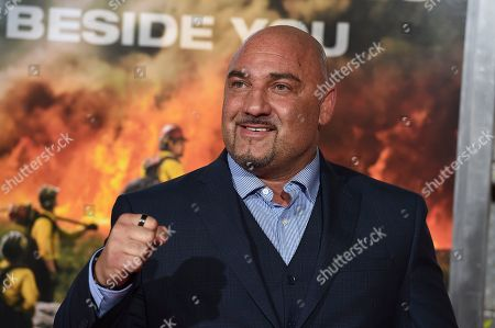 "Jay Glazer arrives at the Los Angeles premiere of ""Only the Brave"" on in Los Angeles"