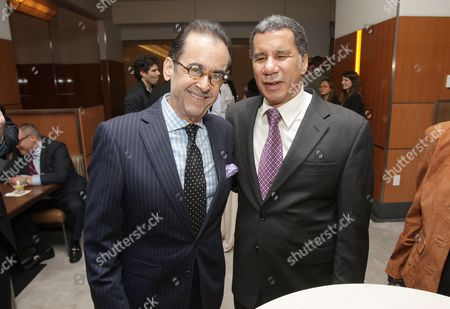 Lionel and former New York Governor David Paterson are seen at the press opening of STATE Grill and Bar on in New York