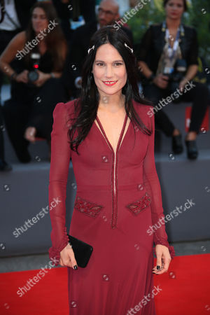 Stock Image of Einat Weizman poses for photographers at the red carpet of the film Rabin, The Last Day during the 72nd edition of the Venice Film Festival in Venice, Italy, . The 72nd edition of the festival runs until Sept. 12