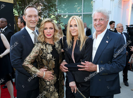 Ted Shackelford, from left, Donna Mills, Joan Van Ark and Kevin Dobson attend the Television Academy's 70th Anniversary Gala and Opening Celebration for its new Saban Media Center, in the NoHo Arts District in Los Angeles