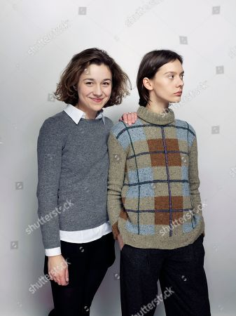 "Aiste Dirziute, left, and Julija Steponaityte pose for a portrait to promote the film, ""Summer of Sangaile"", at the Eddie Bauer Adventure House during the Sundance Film Festival, in Park City, Utah"