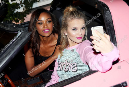 IMAGE DISTRIBUTED FOR BARBIE - Merethe Hopland, right, and Kirby Griffin attend the Barbie Loves Wildfox party celebrating the Resort 2014 collaboration launch at the Wildfox Flagship Store, on in Los Angeles