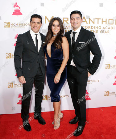 Stock Image of Paulo Quevedo, Melissa Marty, Carlos Yustis attend the 2016 Nissan at Latin Grammys Person of the Year Gala, at the MGM Grand Garden Arena in Las Vegas