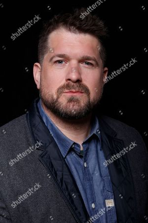 """Producer Seth Gordon poses for a portrait to promote the film, """"Gleason"""", at the Toyota Mirai Music Lodge during the Sundance Film Festival on in Park City, Utah"""