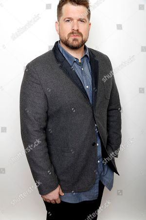 """Director Seth Gordon poses for a portrait to promote the film, """"Gleason"""", at the Toyota Mirai Music Lodge during the Sundance Film Festival on in Park City, Utah"""