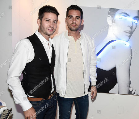 Artist Javier Martin, right, and television personality Josh Flagg at the JetSmarter and Talent Resources Host an Evening in Malibu event on in Malibu, Calif