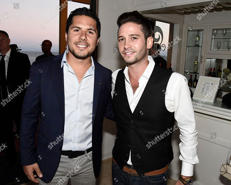 Stock Photo of Jetsmarter Creative Director Antonio Caballero, left, and television personality Josh Flagg at the JetSmarter and Talent Resources Host an Evening in Malibu event on in Malibu, Calif