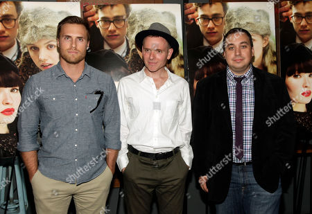 "Stock Image of From left, Amplify EVP Marketing and Distribution Dylan Marchetti, director Stuart Murdoch and Amplify CEO Logan Mulvey attend a screening of ""God Help The Girl"" on in New York"