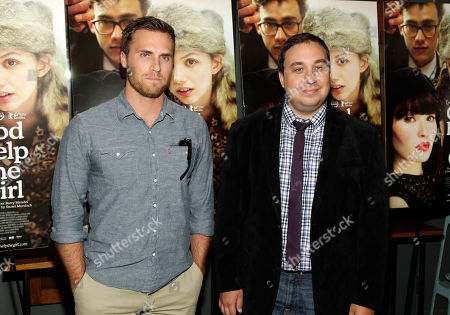 "Stock Photo of Amplify EVP Marketing and Distribution Dylan Marchetti, left, and Amplify CEO Logan Mulvey, right, attend a screening of ""God Help The Girl"" on in New York"