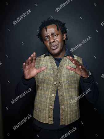 """Director John Akomfrah from the film """"The Stuart Hall Project"""" poses for a portrait during the 2013 Sundance Film Festival on in Park City, Utah"""