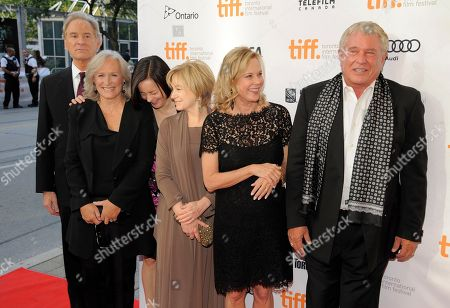 "Cast members, from left, Kevin Kline, Glenn Close, Meg Tilly, Mary Kay Place, JoBeth Williams and Tom Berenger laugh before a reunion screening of the 1983 film ""The Big Chill"" at the 2013 Toronto International Film Festival at The Princess of Wales Theatre on in Toronto"