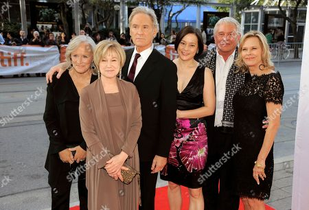 """Cast members, from left, Glenn Close, Mary Kay Place, Kevin Kline, Meg Tilly, Tom Berenger and JoBeth Williams pose before a reunion screening of the 1983 film """"The Big Chill"""" at the 2013 Toronto International Film Festival at The Princess of Wales Theatre on in Toronto"""