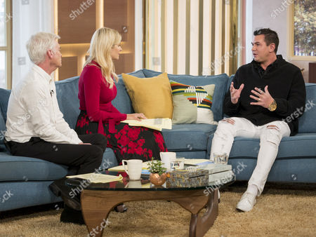 Phillip Schofield and Holly Willoughby with Matt Fiddes