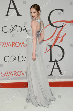 Stock Image of Coca Rocha arrives at the 2015 CFDA Fashion Awards at Alice Tully Hall, Lincoln Center,, in New York