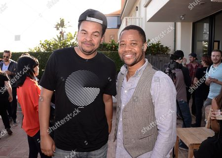 Actor Cuba Gooding Jr., right, and music producer Alex da Kid at the JustFab Beach House, in Malibu, Calif