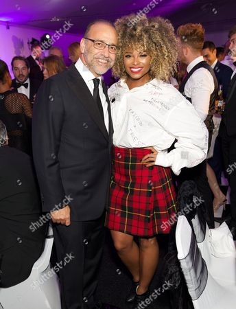 Theo Paphitis and Fleur East