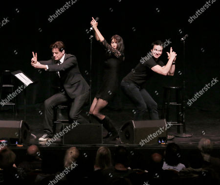 """John Fugelsang, Stephanie Miller and Hal Sparks participate in the """"Sexy Liberal"""" tour at the Pantages Theatre, in Los Angeles"""