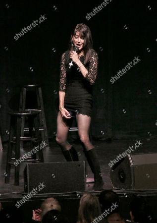 """Stephanie Miller participates in the """"Sexy Liberal"""" tour at the Pantages Theatre, in Los Angeles"""