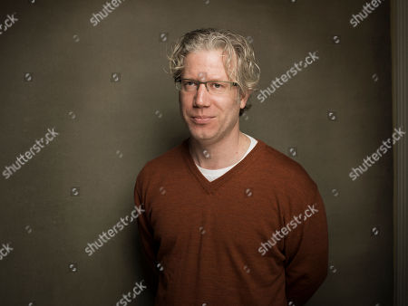 """Eddie Schmidt from the film """"Valentine Road,"""" poses for a portrait during the 2013 Sundance Film Festival at the Fender Music Lodge,, in Park City, Utah"""