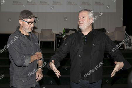 Didier Conrad (R) draftsman and Jean-Yves Ferri writer of the last three albums