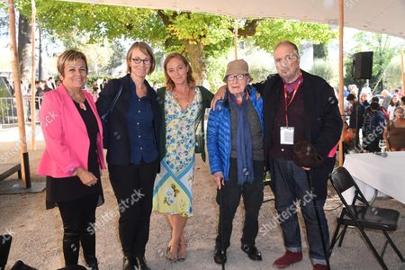 Peter Brook, Irina Brook, Jean-Claude Carriere, Marie-Louise Gourdon and Francoise Nyssen